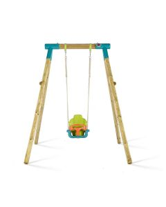Plum Premium Single Swing [Turquoise]  with Baby Seat